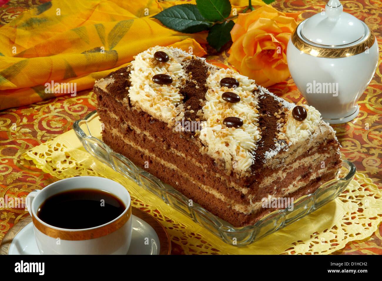 Chocolate cake - Stock Image