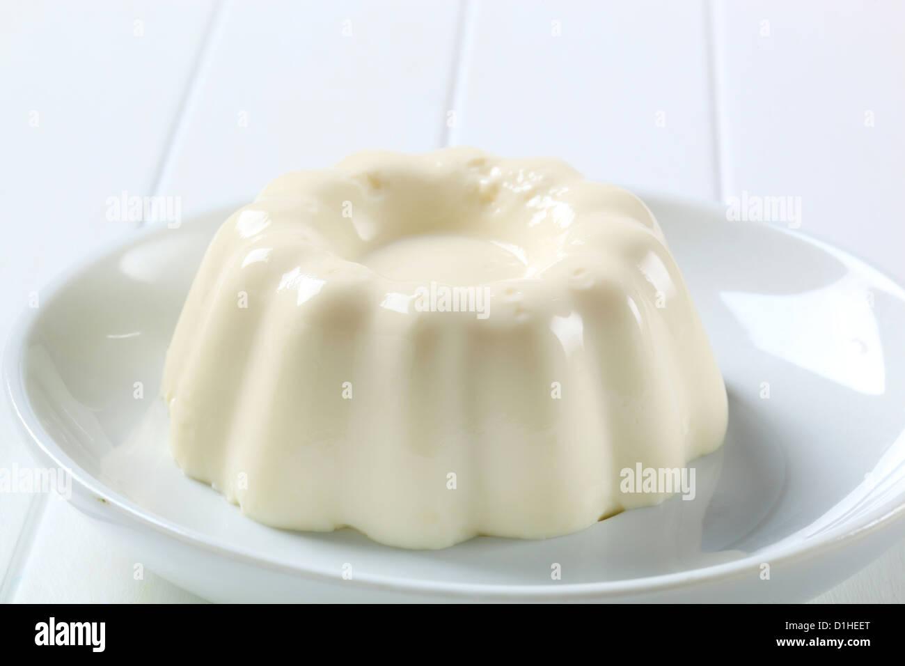 Italian dessert - Panna cotta - Stock Image