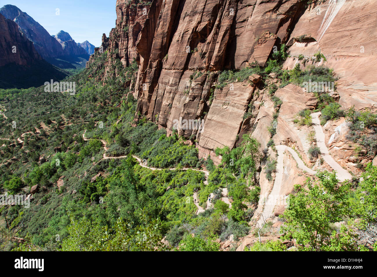 The Trail to Angels Landing, Zion NP, Utah Stock Photo