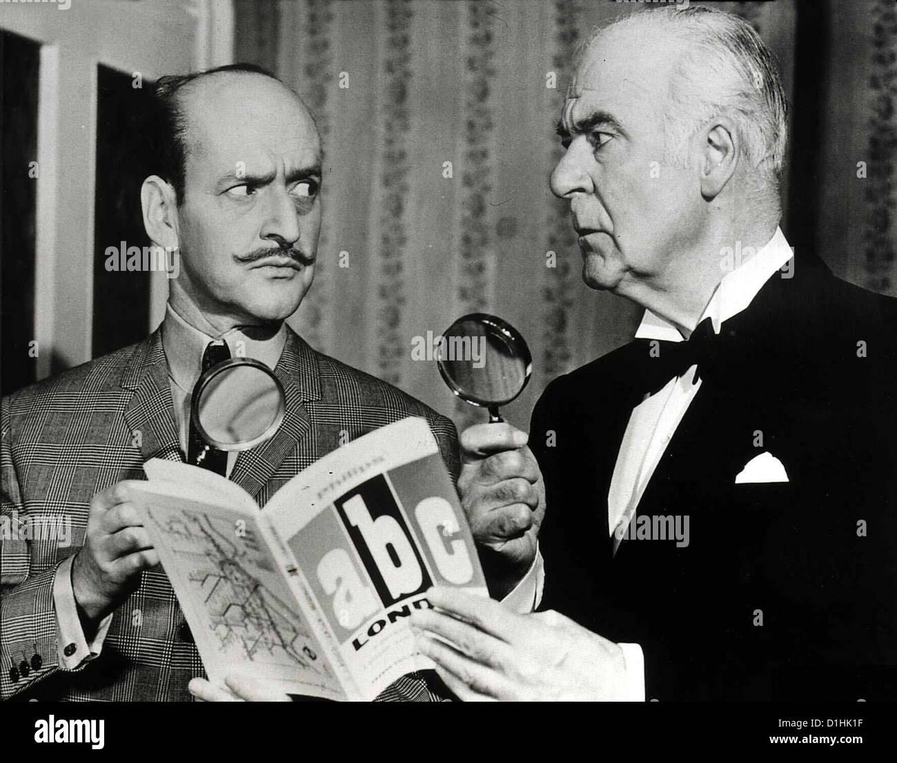 Die Morde Des Herrn Abc  Alphabet Murders,  Tony Randall, Austin Trevor Hercule Poirot (Tony Randall,l) und Judson - Stock Image