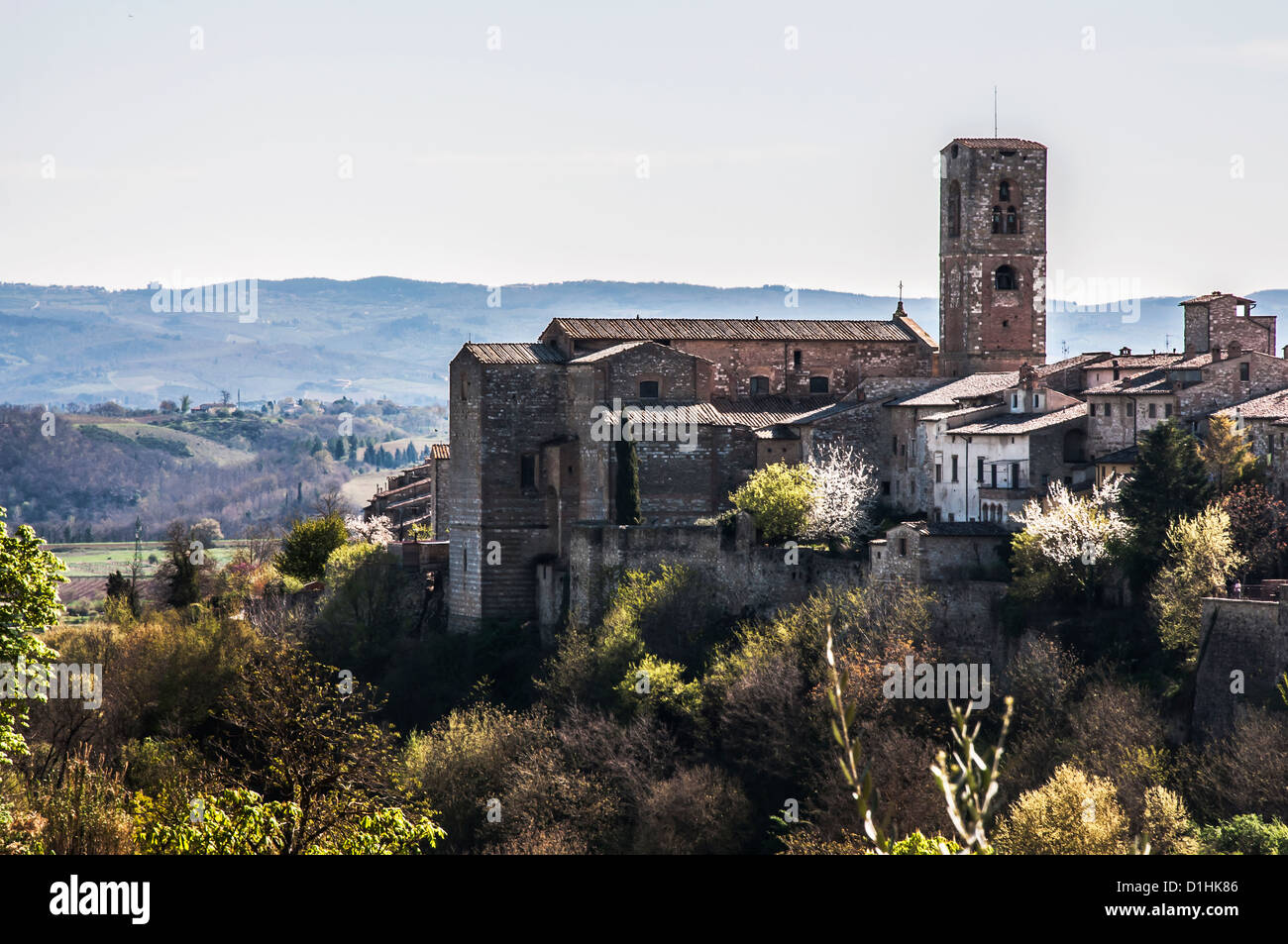 view of colle di val d'elsa in  tuscany. italy Stock Photo