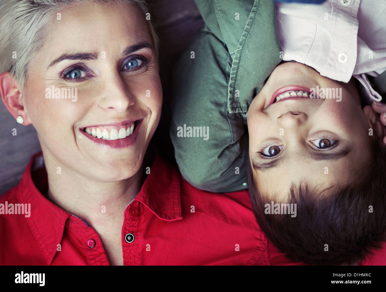 Happy family having fantastic spare time - Stock Image