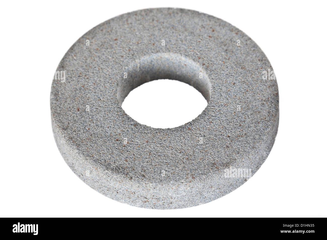 Circular abrasive disk - emery isolated on white background - Stock Image