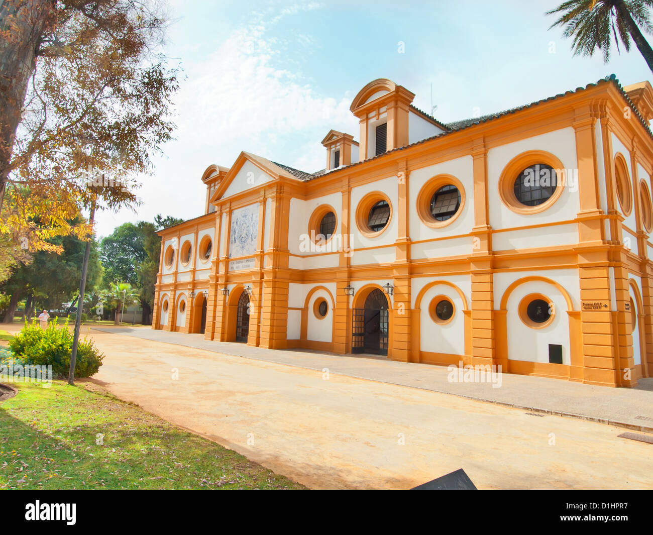 manege of the Royal Andalucían School of Equestrian Art , Jerez, Spain - Stock Image