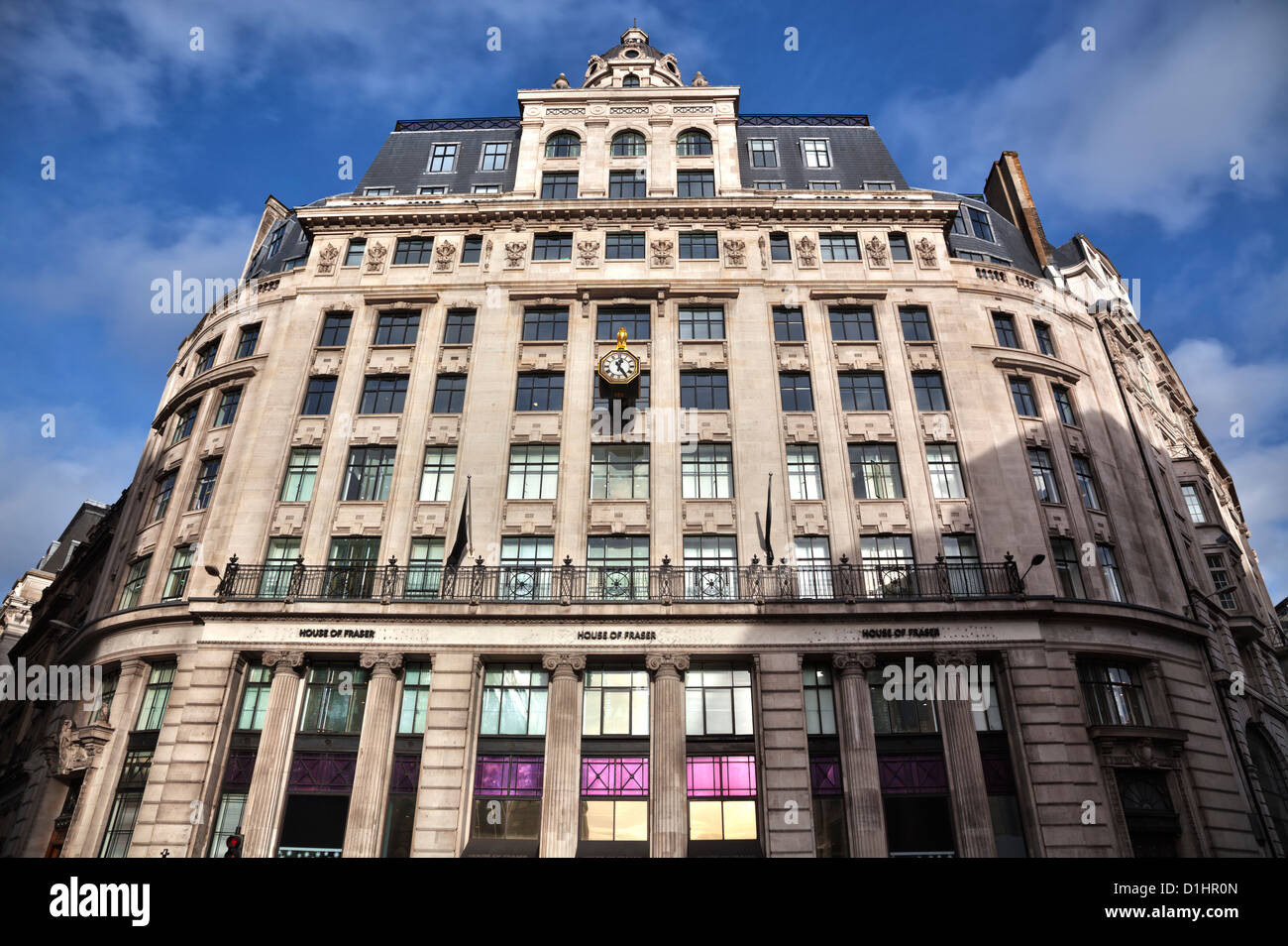 House of Fraser department store on north end of London Bridge - Stock Image