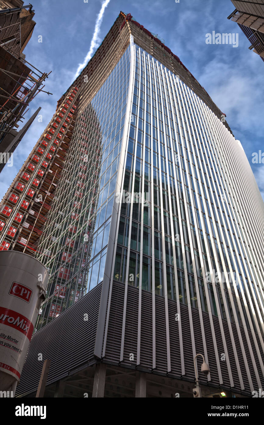 20 Fenchurch Street under construction in the heart of the City of London - Stock Image
