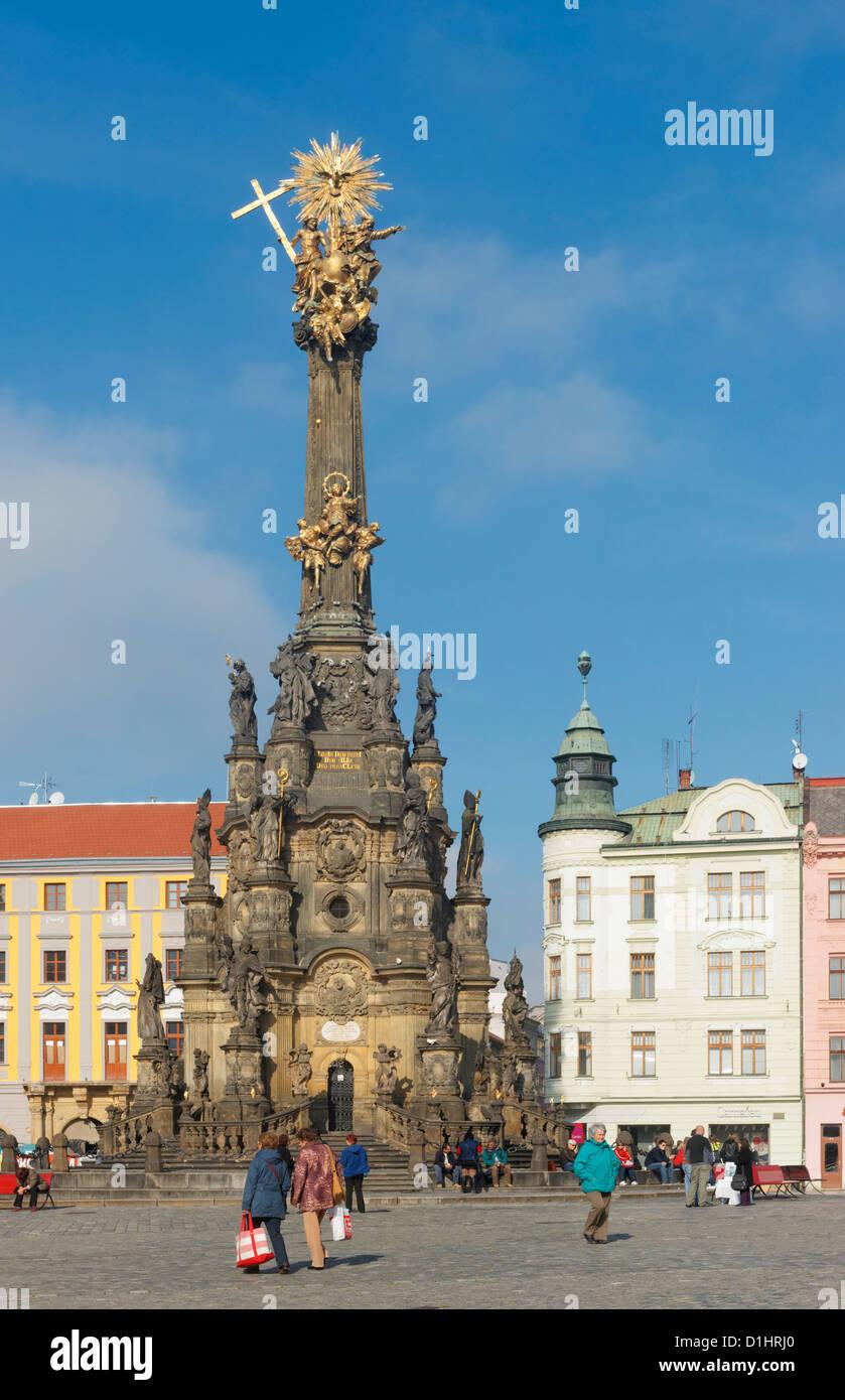 Holy Trinity Column in Horni Namesti, Olomouc, North Moravia, Czech Republic Stock Photo