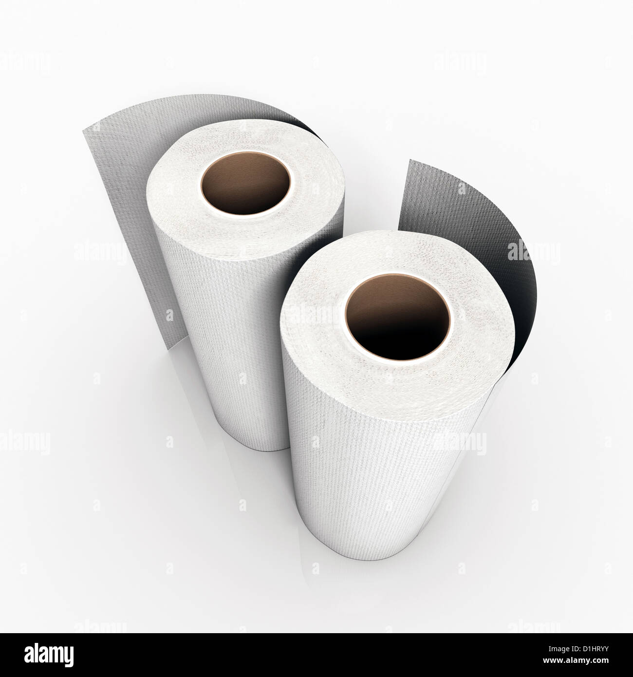 paper towels isolated on white background Stock Photo