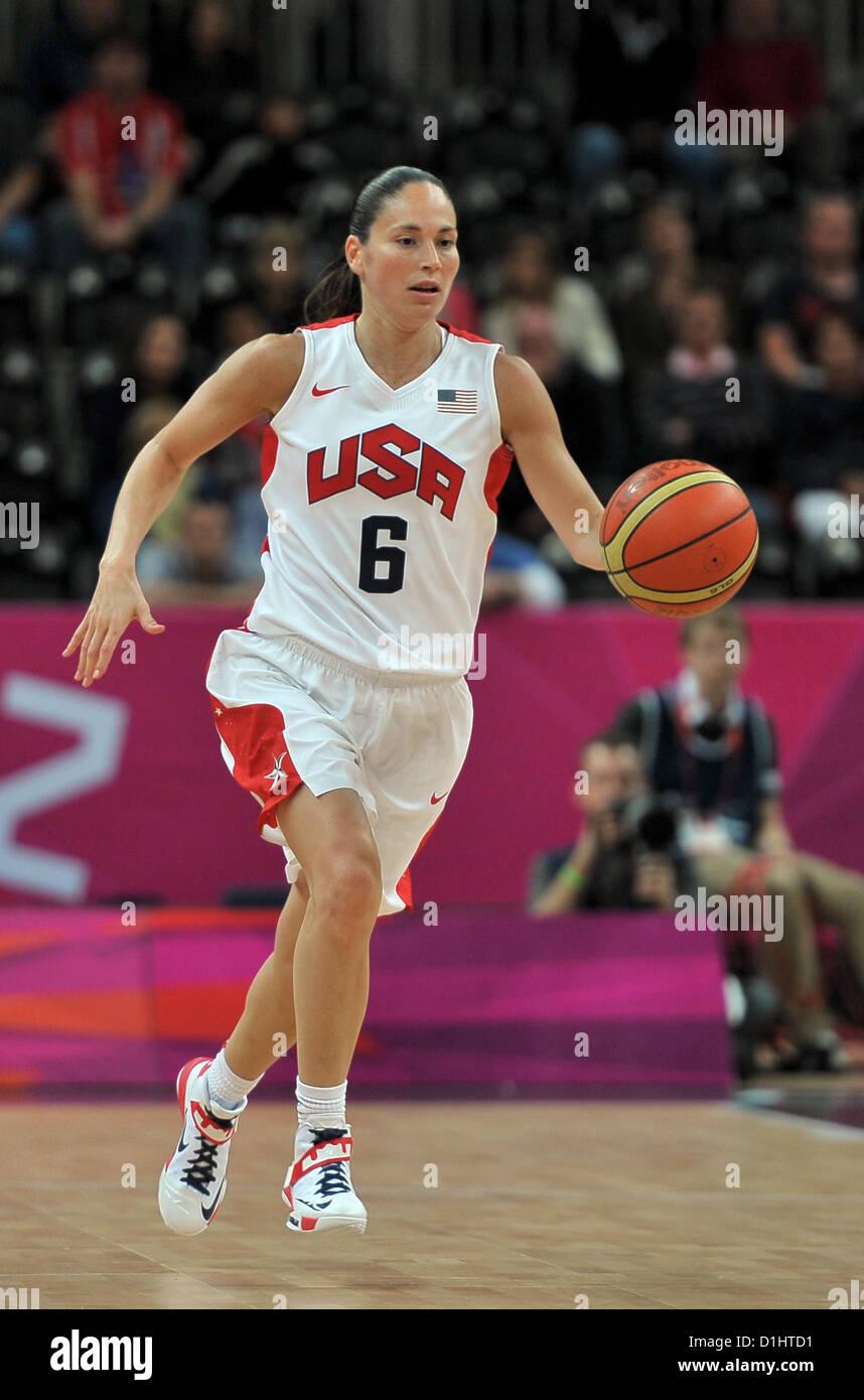 USA's Sue Bird. USA Vs TUR Womens Basketball - Stock Image