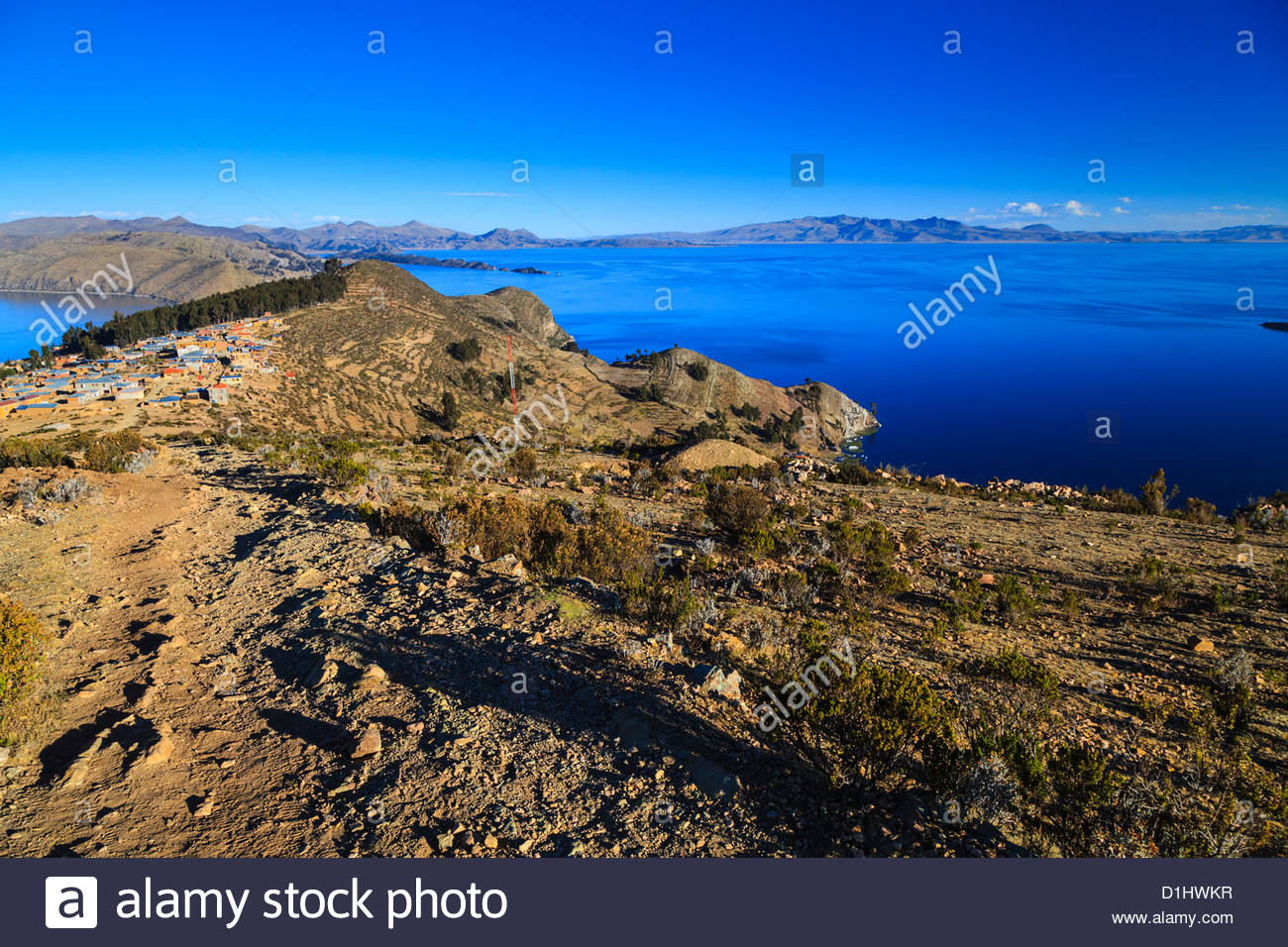 Isla del Sol on the Bolivian Side of Lake Titicaca, Bolivia. - Stock Image