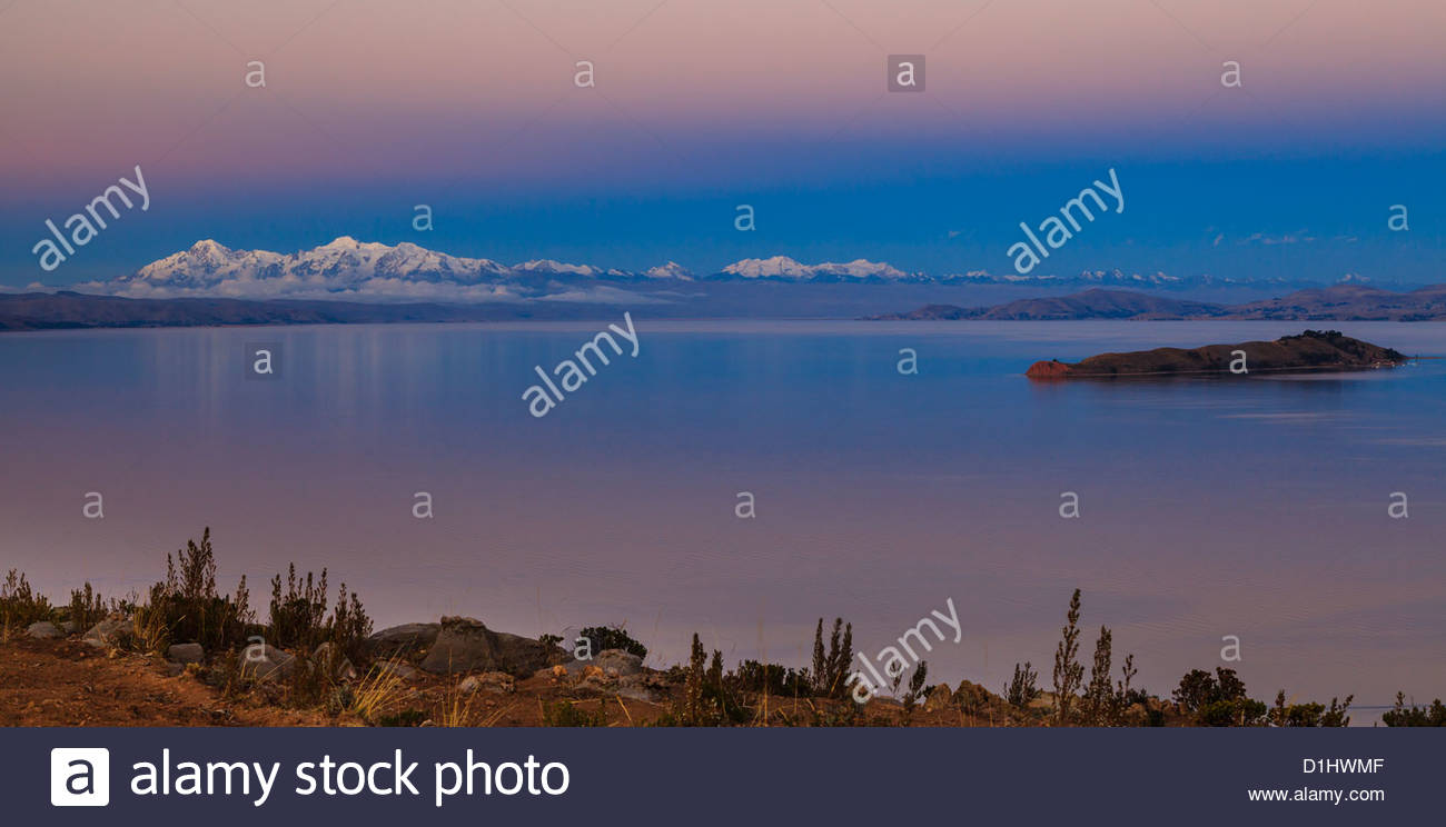 Isla del Sol on the Bolivian Side of Lake Titicaca, Bolivia. Photo: Navè Orgad - Stock Image