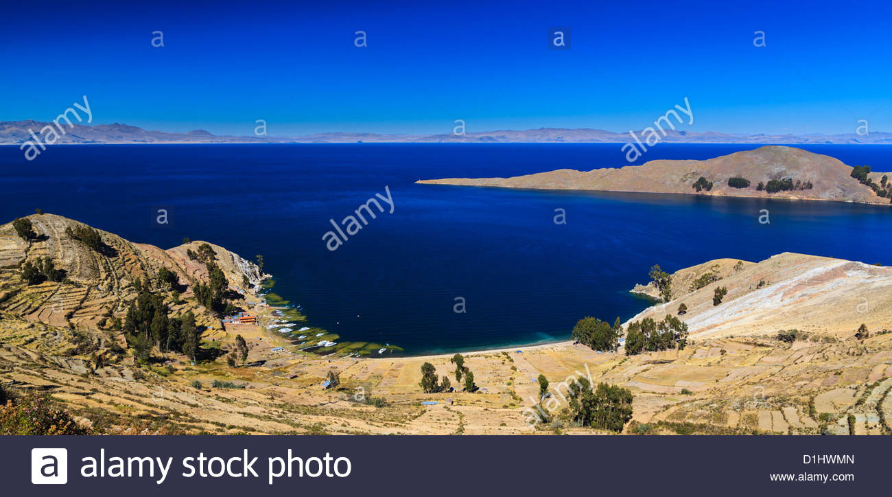 Isla del Sol on the Bolivian Side of Lake Titicaca, Bolivia. Photo: Navè Orgad - Stock Image