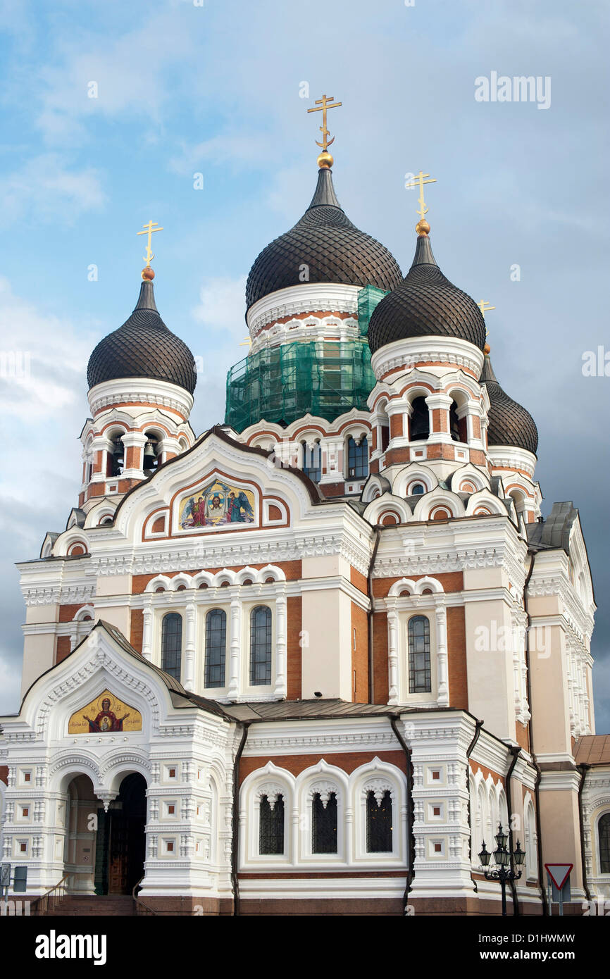 Alexander Nevsky Cathedral in Tallinn, the capital of Estonia. - Stock Image