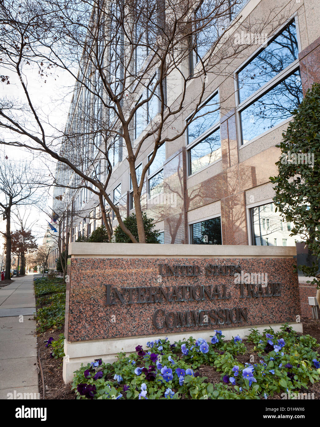 The US International Trade Commission building - Washington, DC - Stock Image