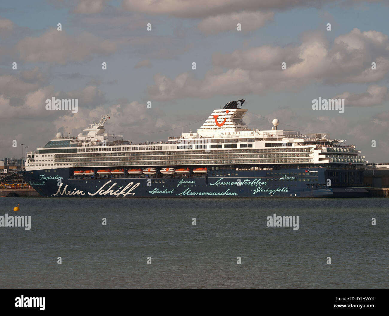 Cruise ship Mein Schiff 2 berthed in Southampton England UK - Stock Image