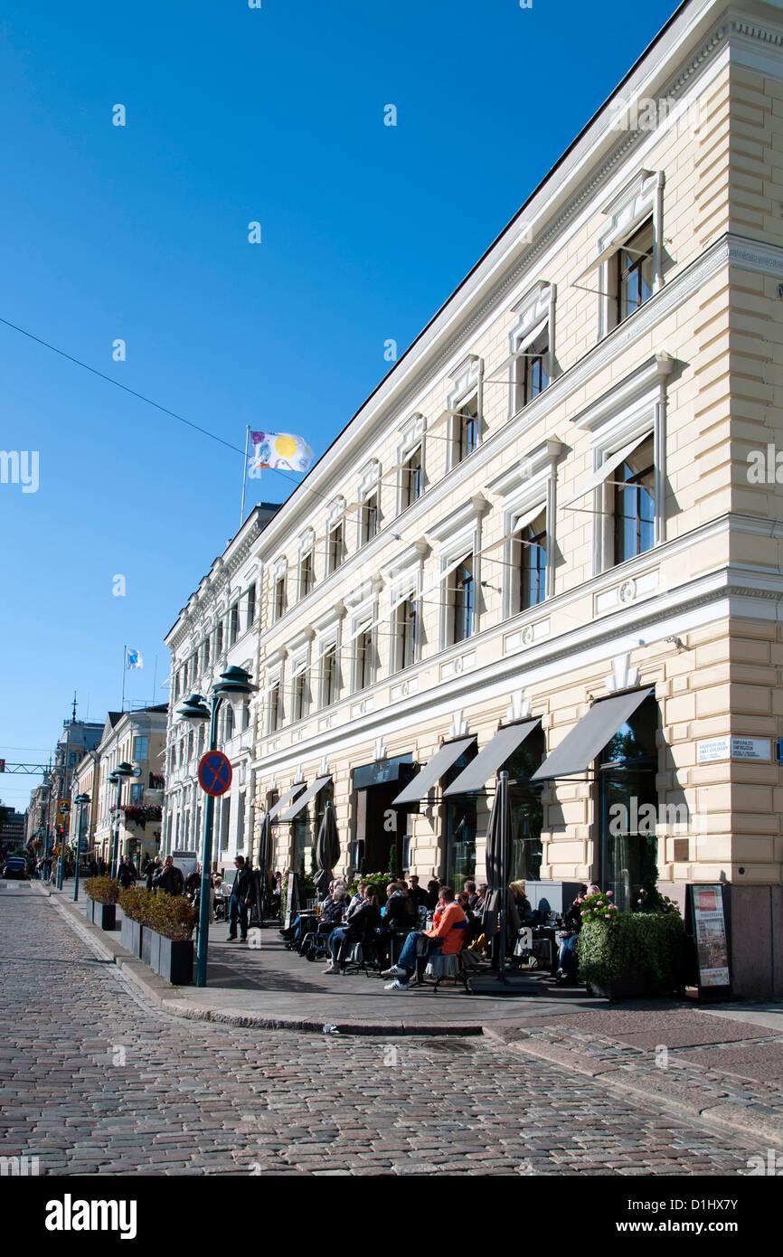 Norra Esplanaden (North Esplanade) street in Helsinki, the capital of Finland. - Stock Image