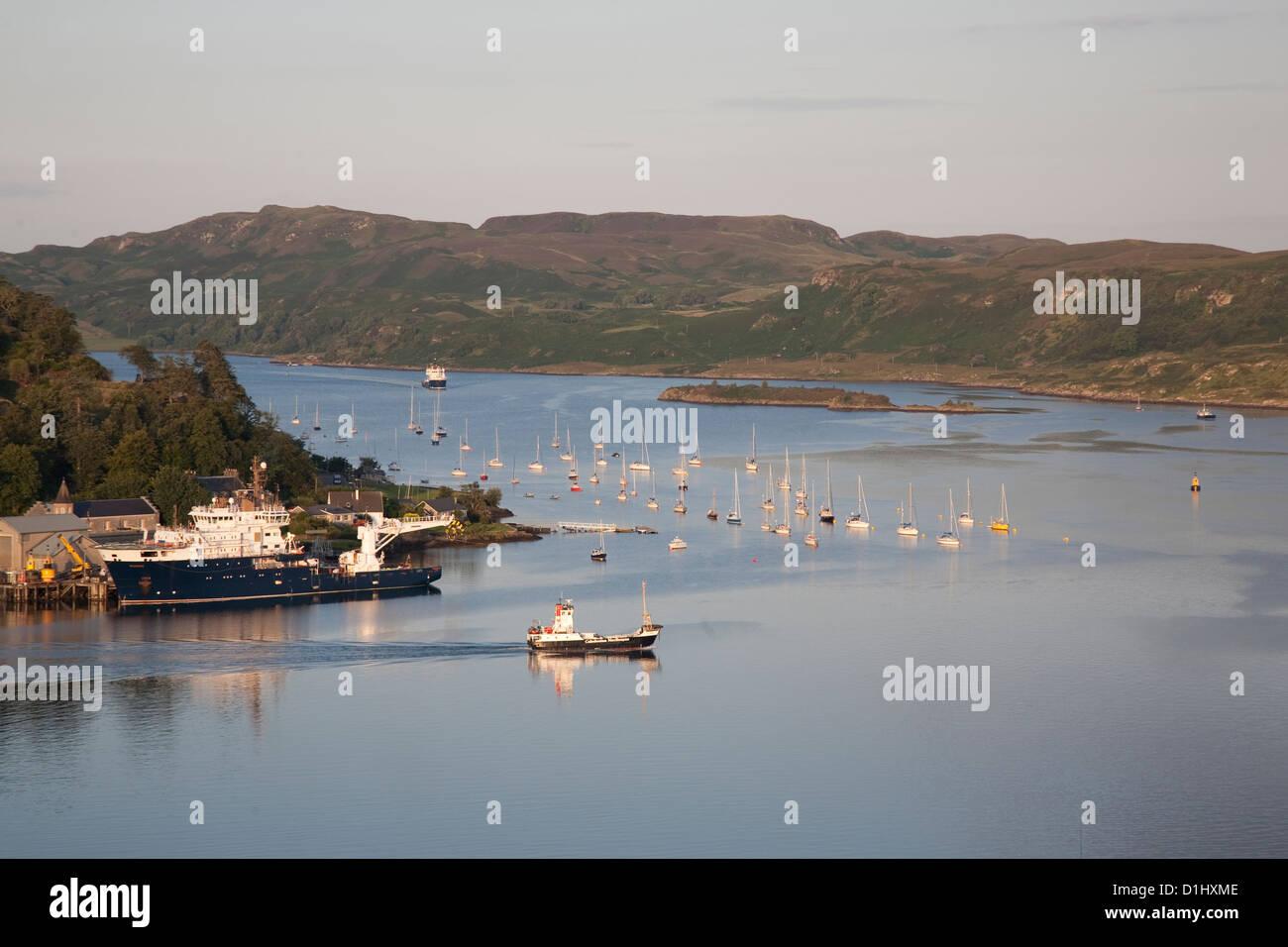Cal Mac - Caledonian MacBrayne Ferry, Oban, Scotland, UK - Stock Image