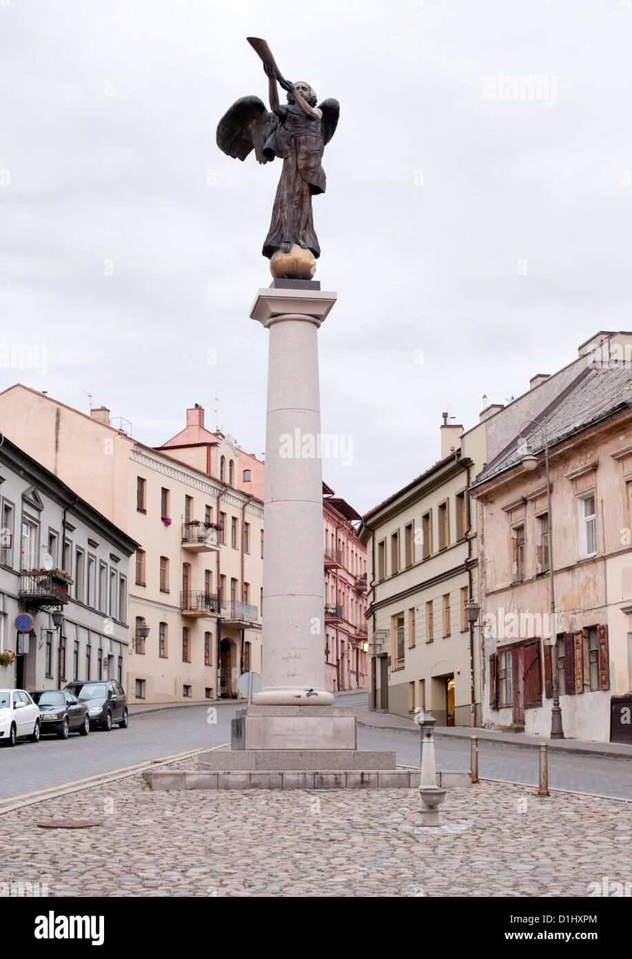 The Angel of Uzupis in the Uzupis district of Vilnius, the capital of Lithuania. - Stock Image