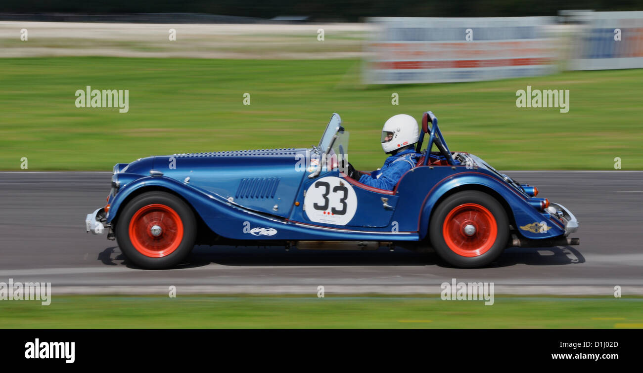 Classic car at Castle Combe Circuit - Stock Image