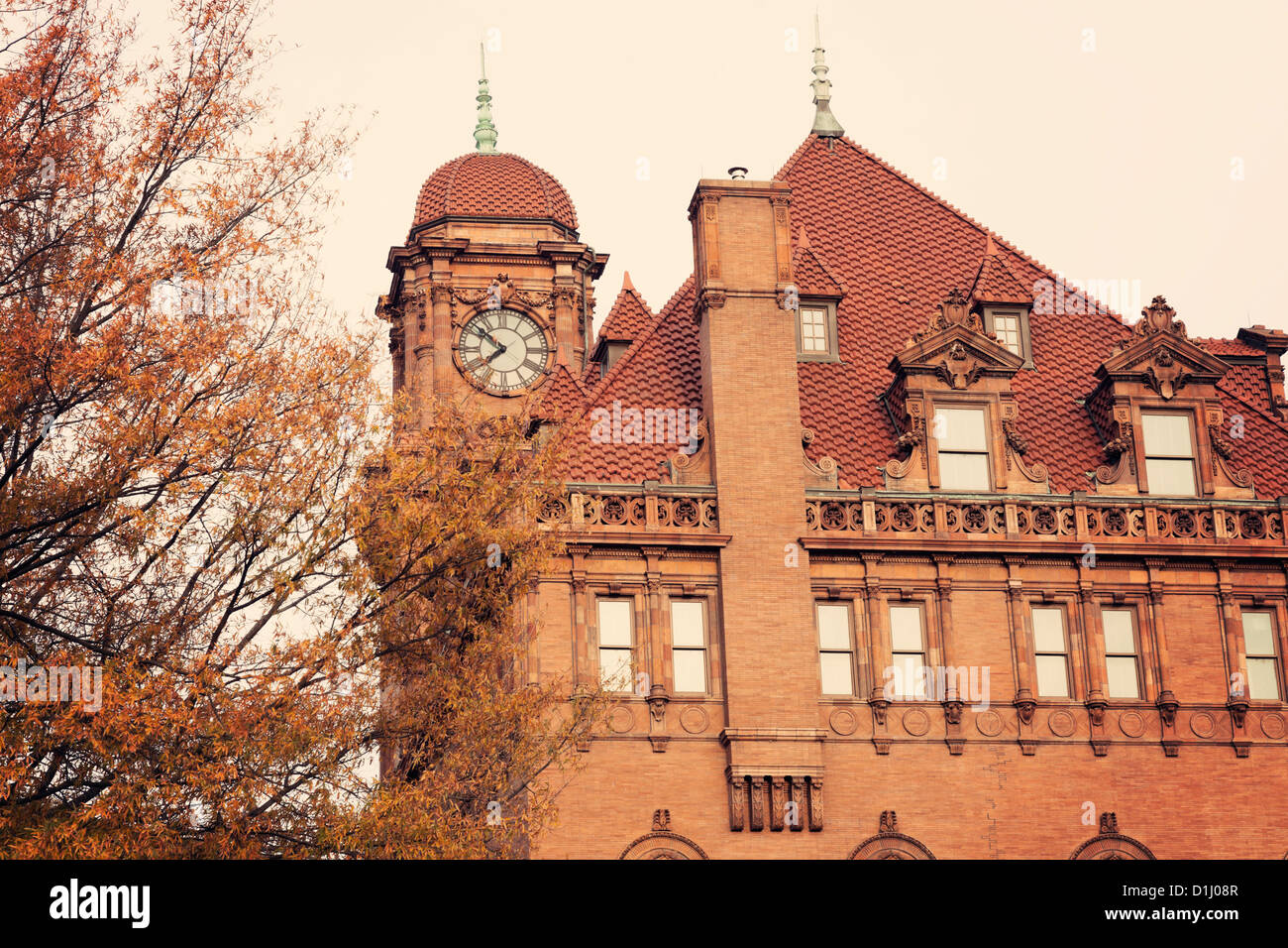 Old Main Street Train Station Clock Tower in Richmond - Stock Image