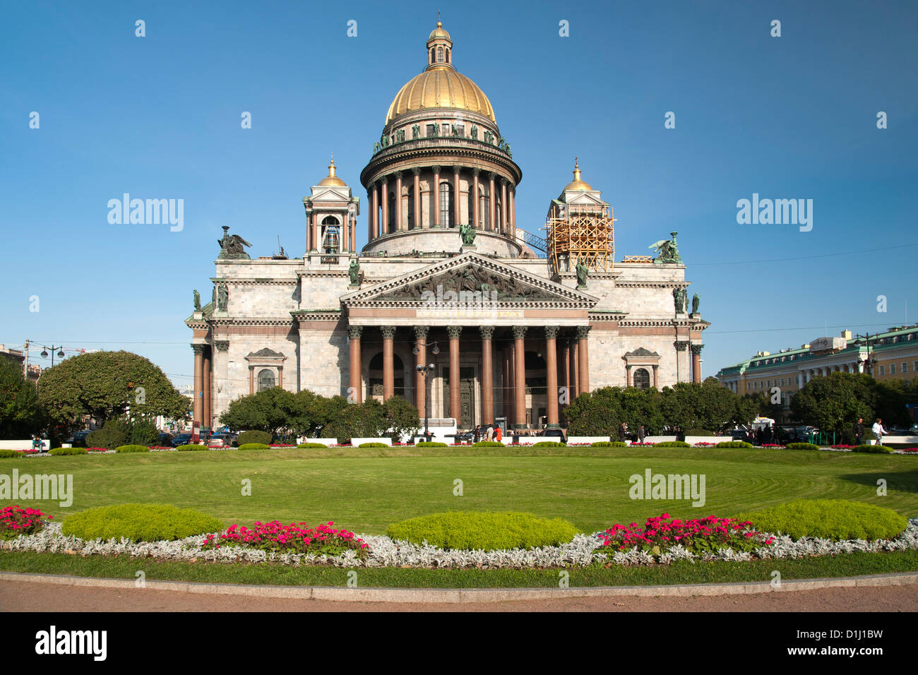 St Isaac's Cathedral in Saint Petersburg, Russia. Stock Photo