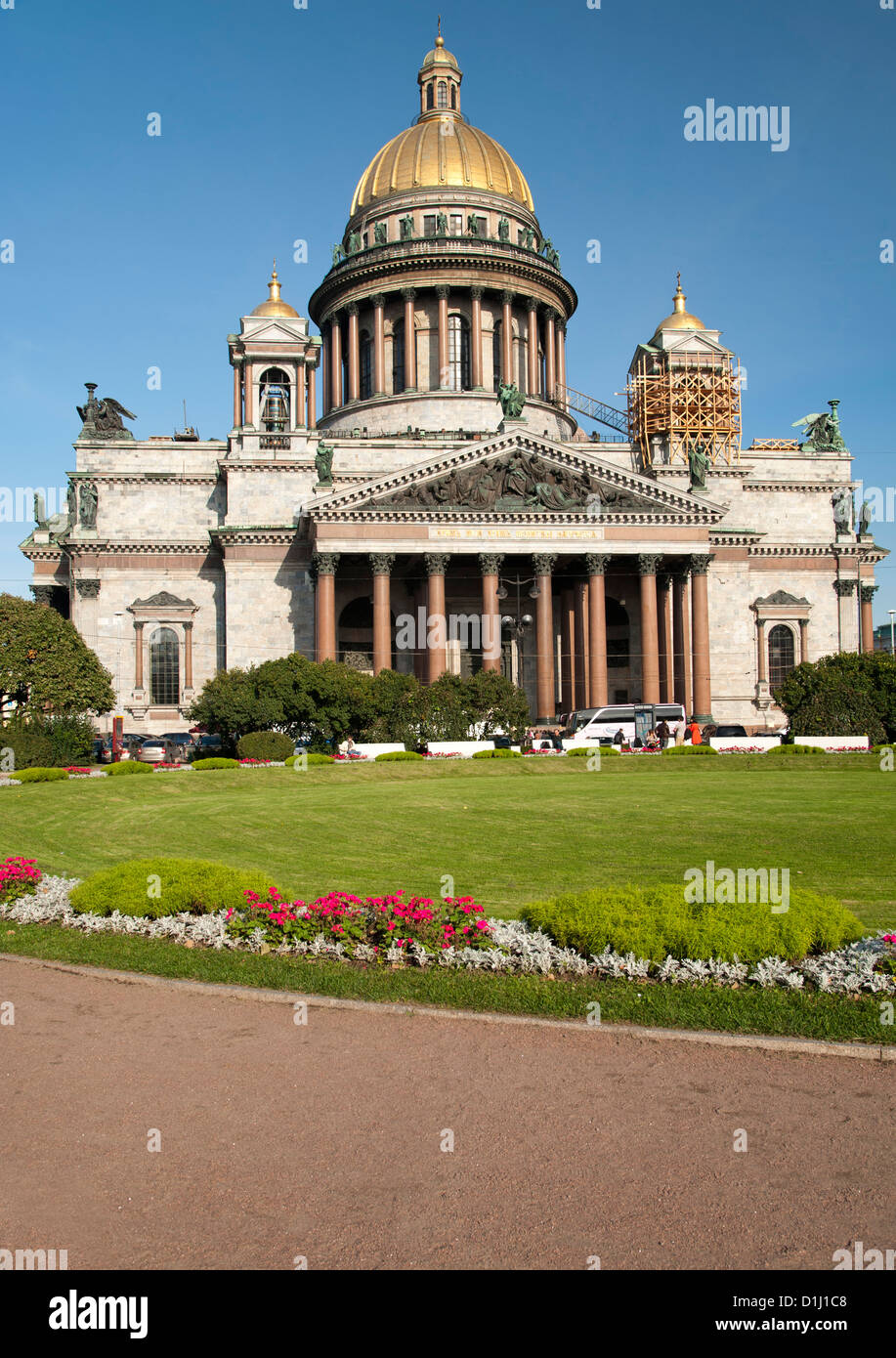St Isaac's Cathedral in Saint Petersburg, Russia. - Stock Image