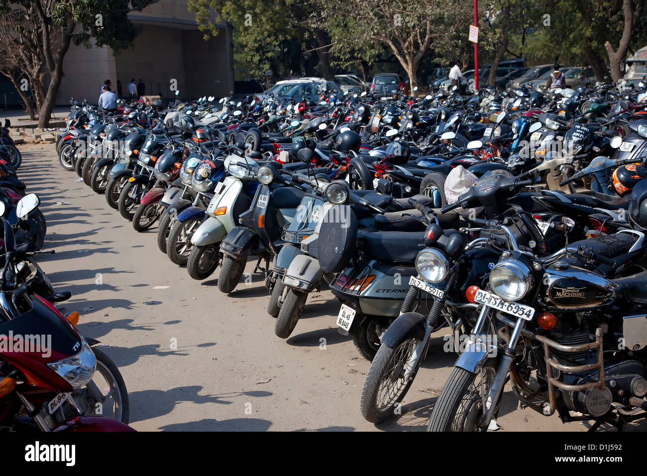 A authorize parking at new Delhi,India - Stock Image