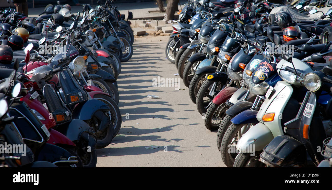 A Indian authorize parking at New Delhi,India - Stock Image