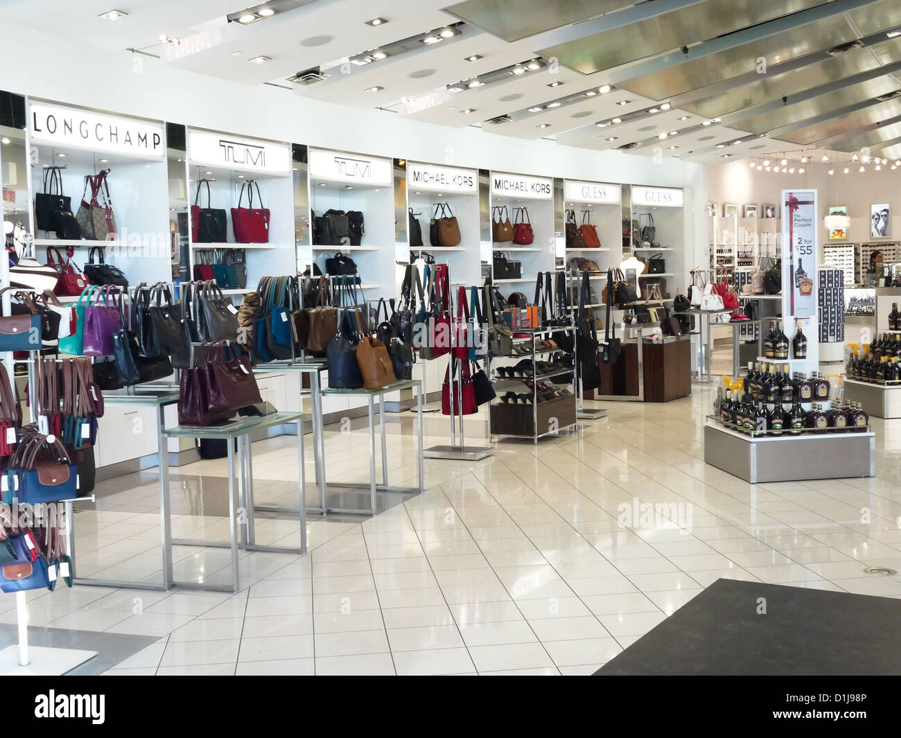 118e0df8a7 inside retail luxury handbag shop toronto airport Stock Photo ...