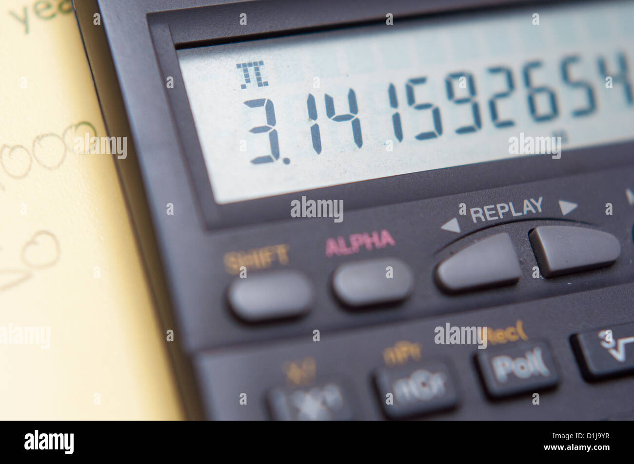pi symbol and number displayed on a calculator stock photo 52648731