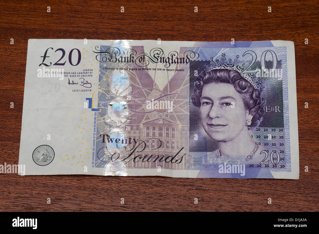 Bank of England sterling currency bank notes. - Stock Image