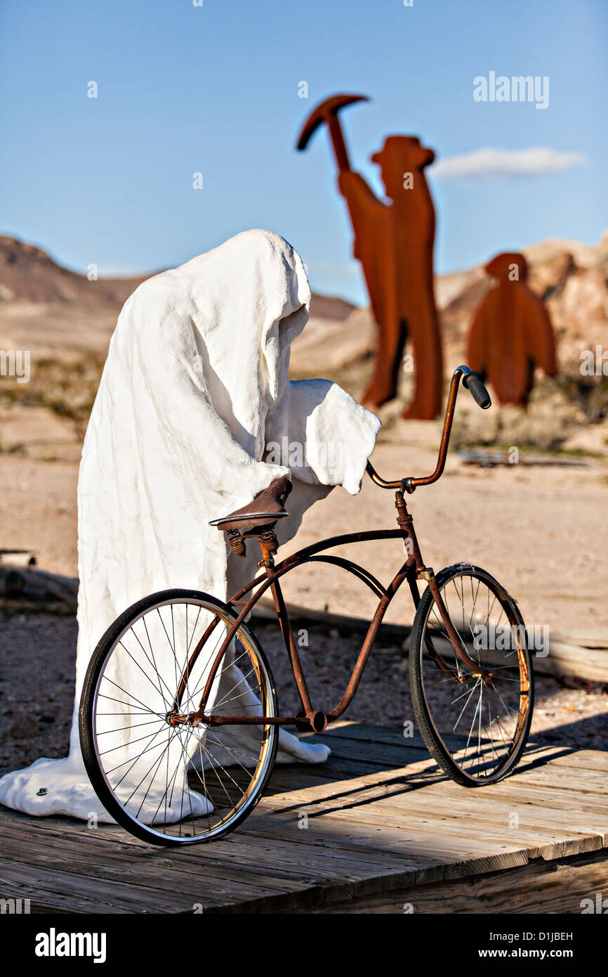 Public sculpture called Ghost Rider the open air museum in Goldwell, NV. - Stock Image