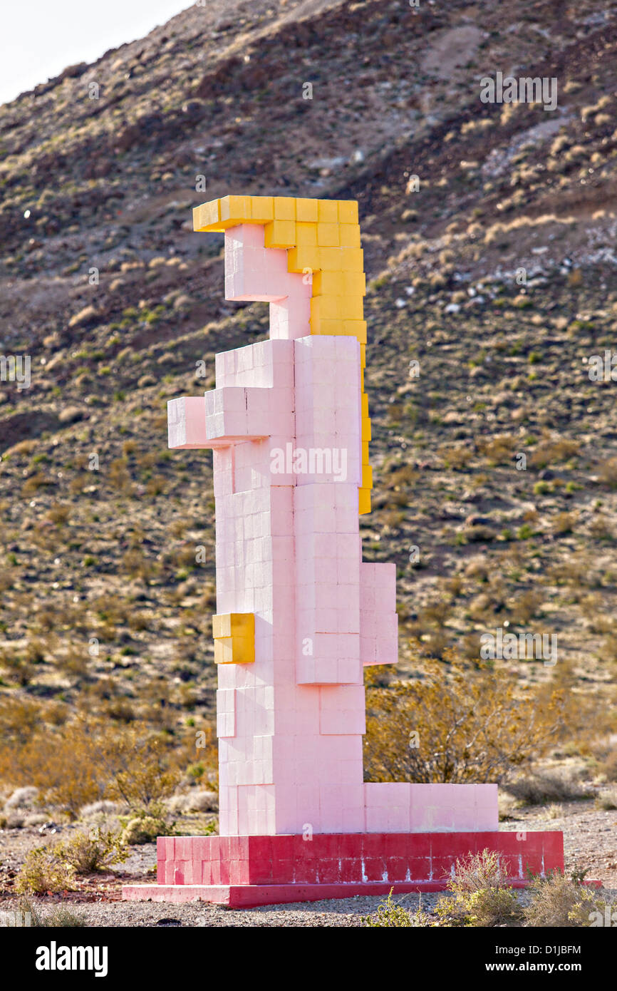 Public sculpture called Lady Desert: The Venus of Nevada at the open air museum in Goldwell, NV. - Stock Image