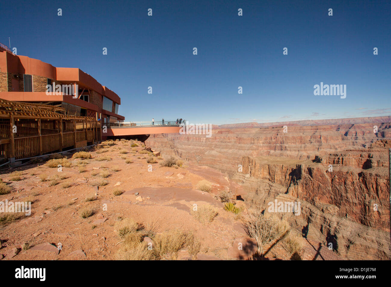 Skywalk in the Grand Canyon West Hualapai Nation Reservation, AZ. - Stock Image