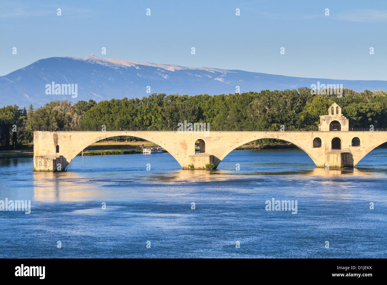 Avignon Bridge, Pont Saint-Bénezet, Provence, France - Stock Image