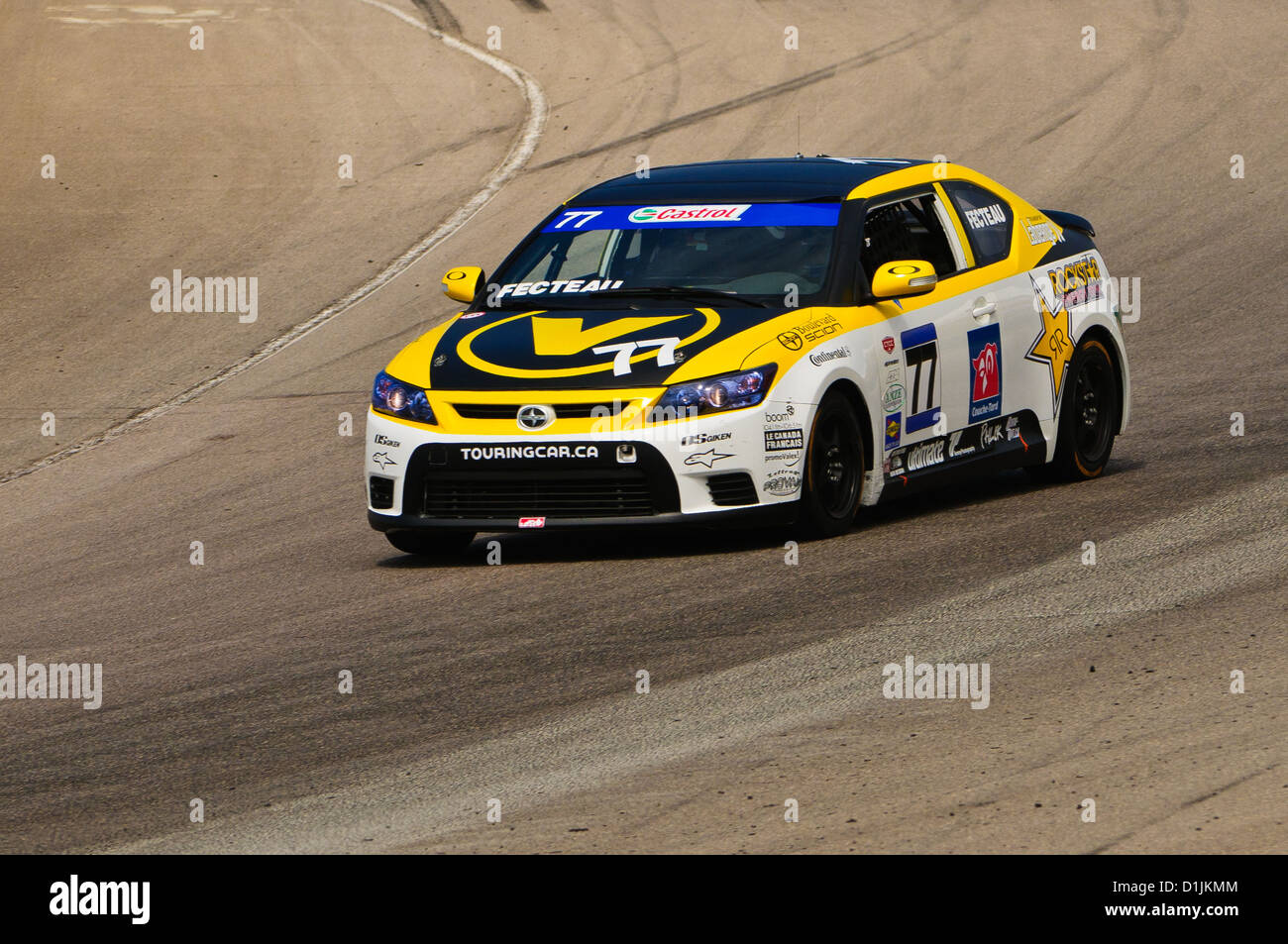A Scion tC competes in the  CTCC Canadian Touring Car Championship at the 2011 Mobile-1 Grand Prix Mosport Stock Photo