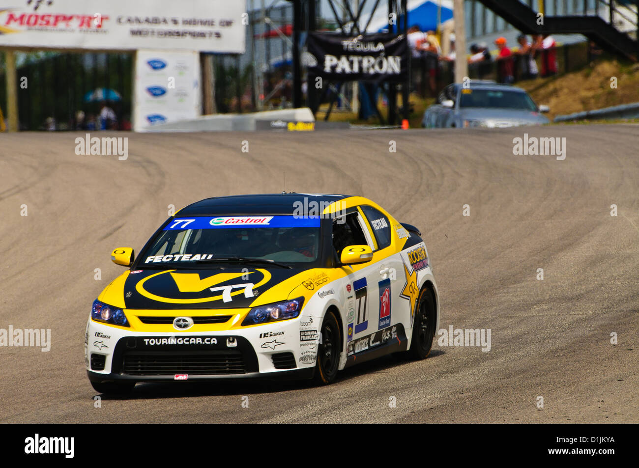 Scion tC competes in the  CTCC Canadian Touring Car Championship at the 2011 Mobile-1 Grand Prix Mosport Stock Photo