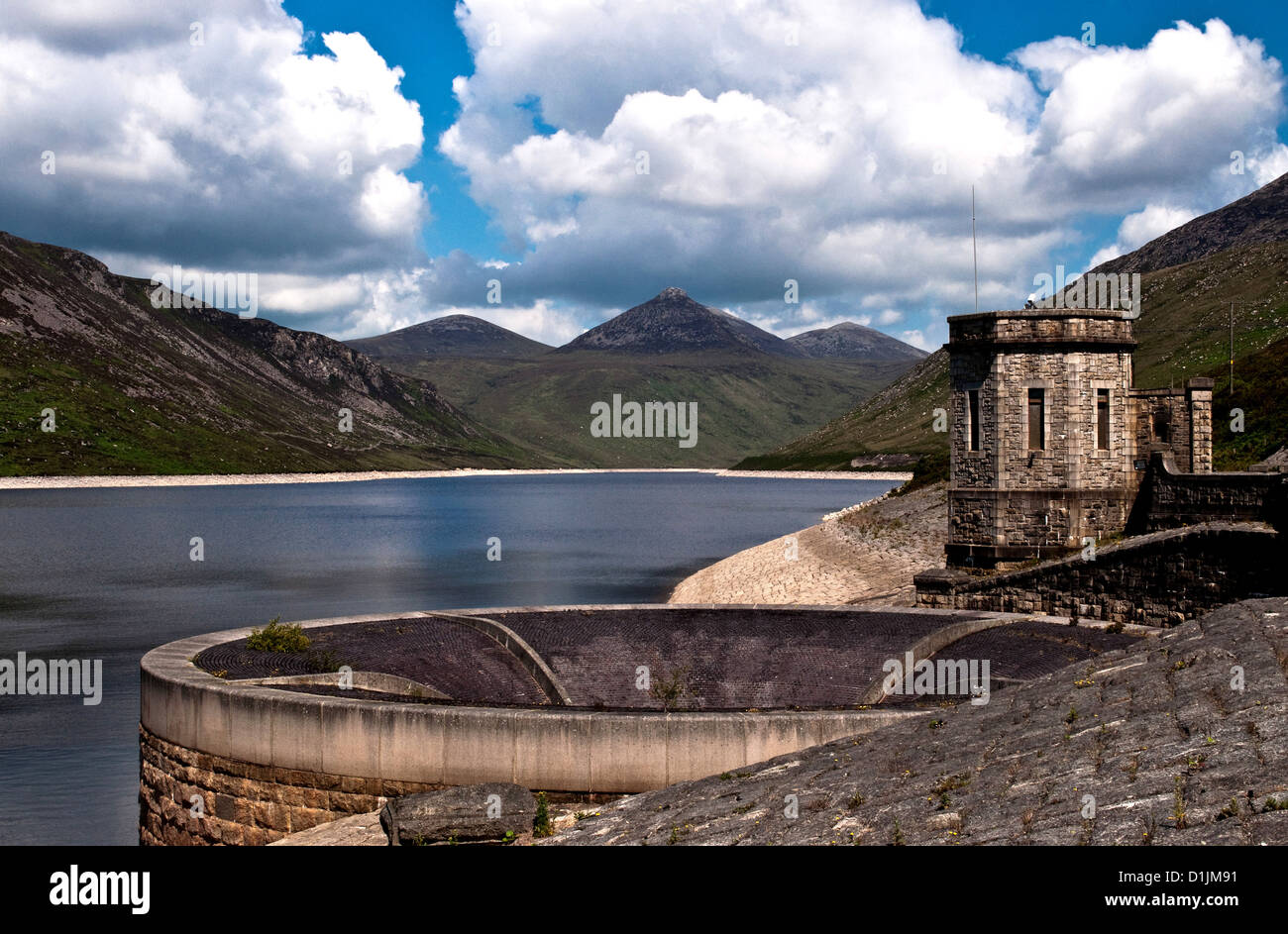 Silent Valley Dam County Down Northern Ireland - Stock Image