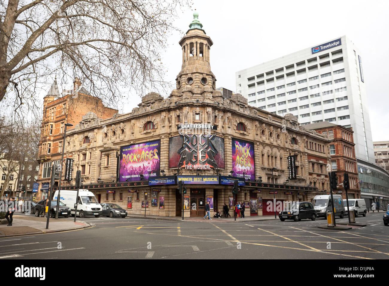 The Shaftesbury Theatre, London, England, UK - Stock Image