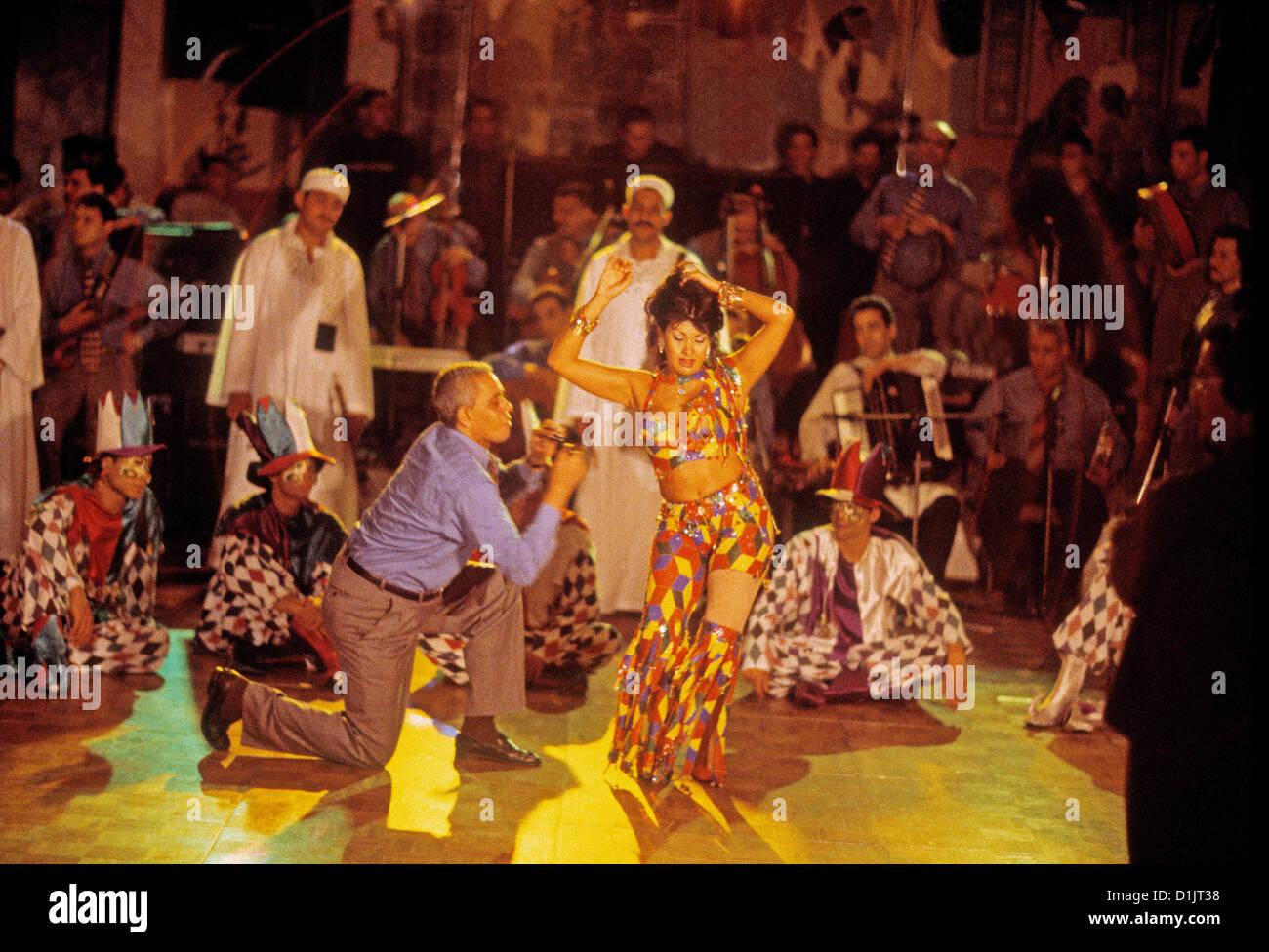 Egipto El Cairo Belly dancer Dina en el Cairo Marriott - Stock Image