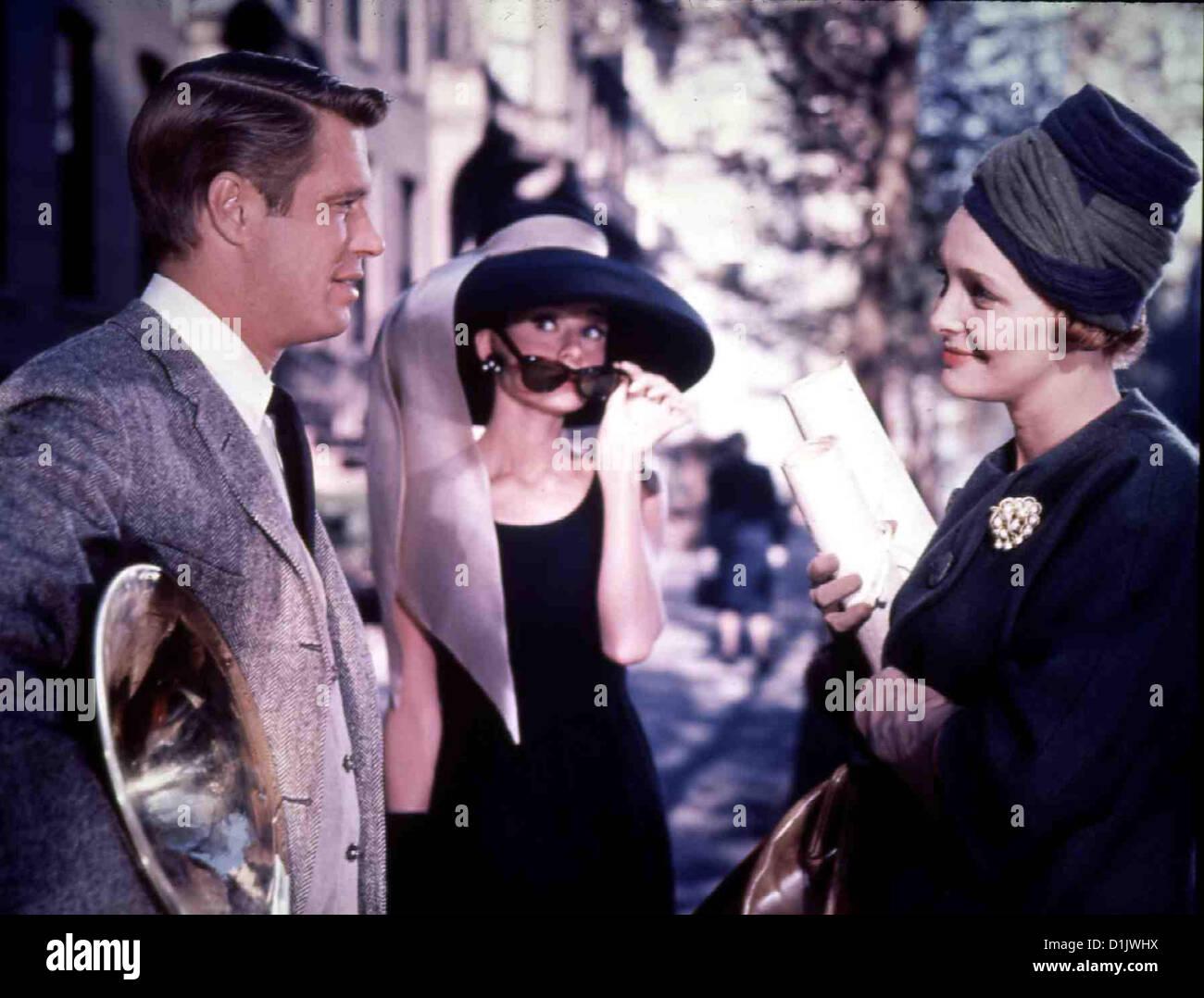 Fruehstueck Bei Tiffany   Breakfast At Tiffany's   George Peppard, Audrey Hepburn *** Local Caption *** 1961 - Stock Image