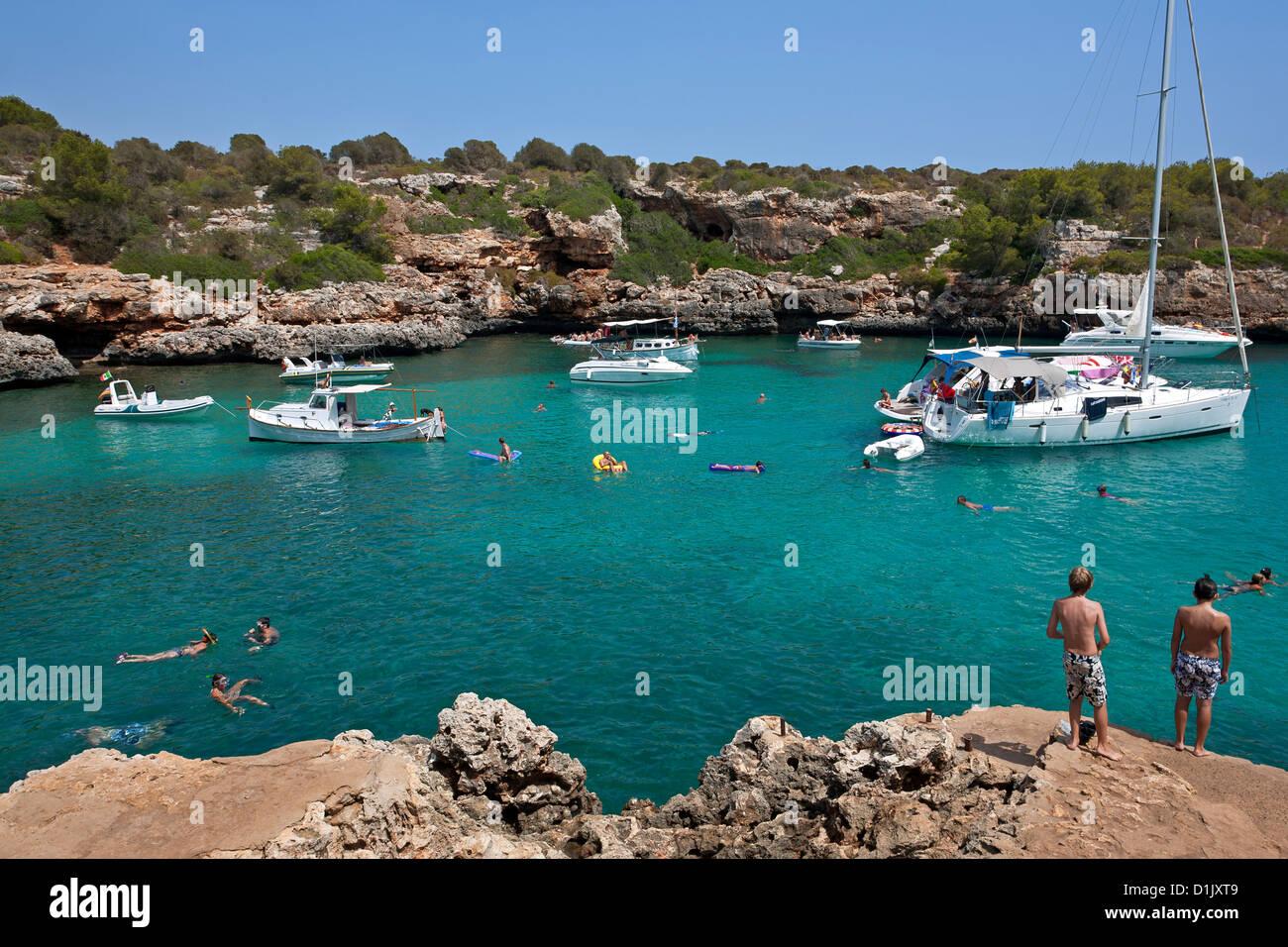 Cala Sa Nau. Mallorca Island. Spain - Stock Image