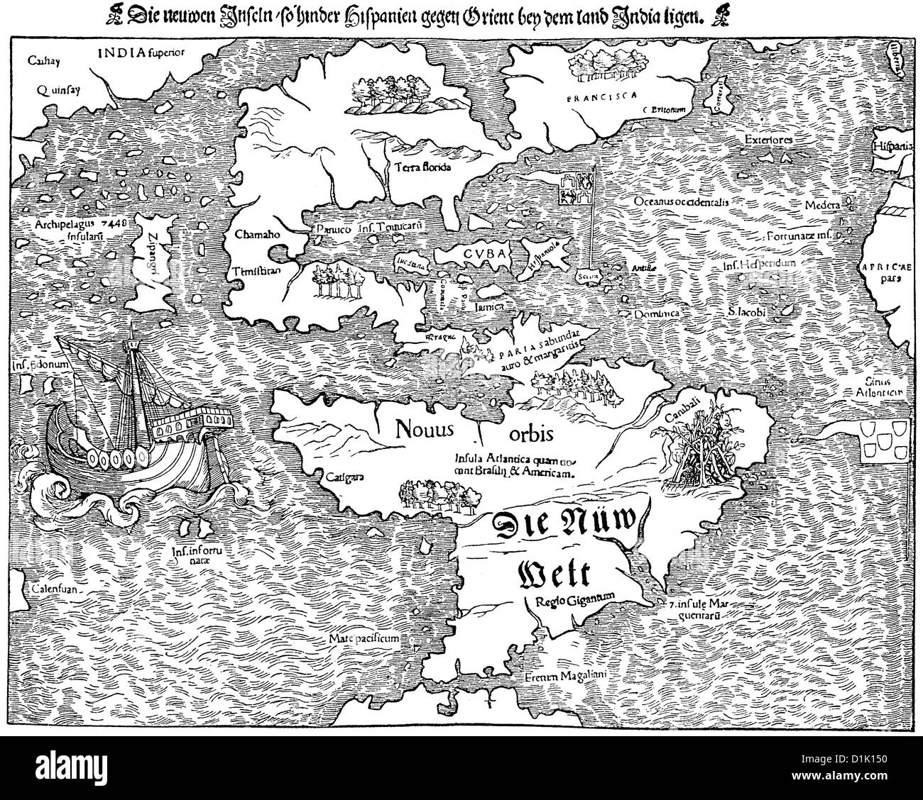 Facsimile of the first map of the new world today known as america facsimile of the first map of the new world today known as america 15th century gumiabroncs Images