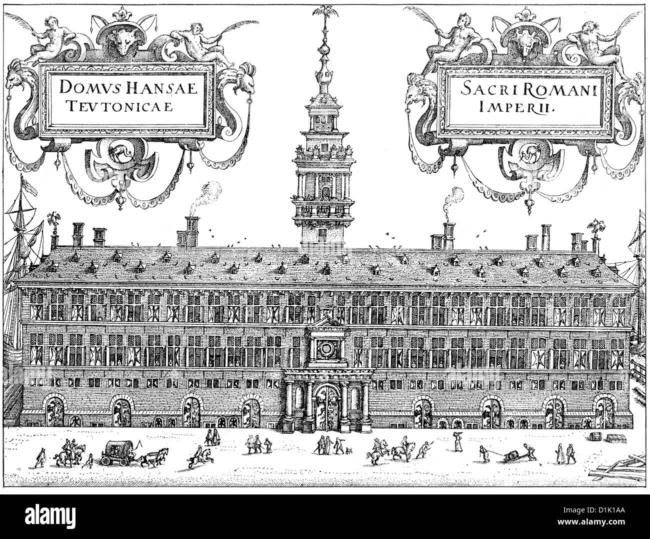 the office building of the Hanseatic League in Antwerp, Spanish Netherlands, 16th century, today Belgium, Europe - Stock Image