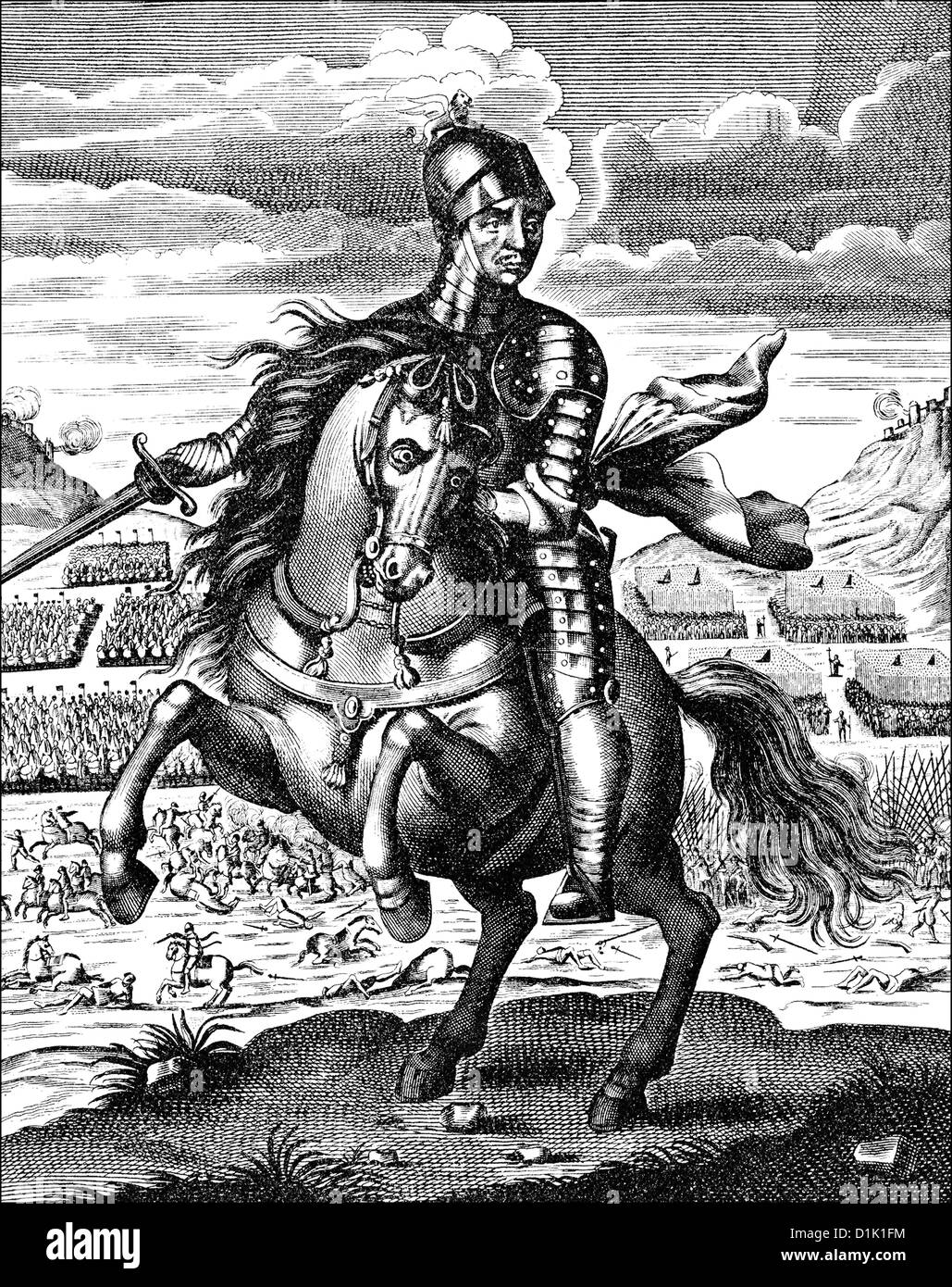 Oliver Cromwell, 1599 - 1658, the founder of the English republic, Lord Protector of England, Scotland and Ireland Stock Photo
