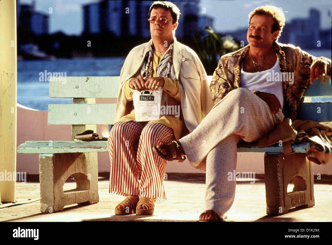 Birdcage - Ein Paradies Fuer Schrille Voegel  Birdcage,  Nathan Lane, Robin Williams Albert (Nathan Lane,l) und - Stock Image