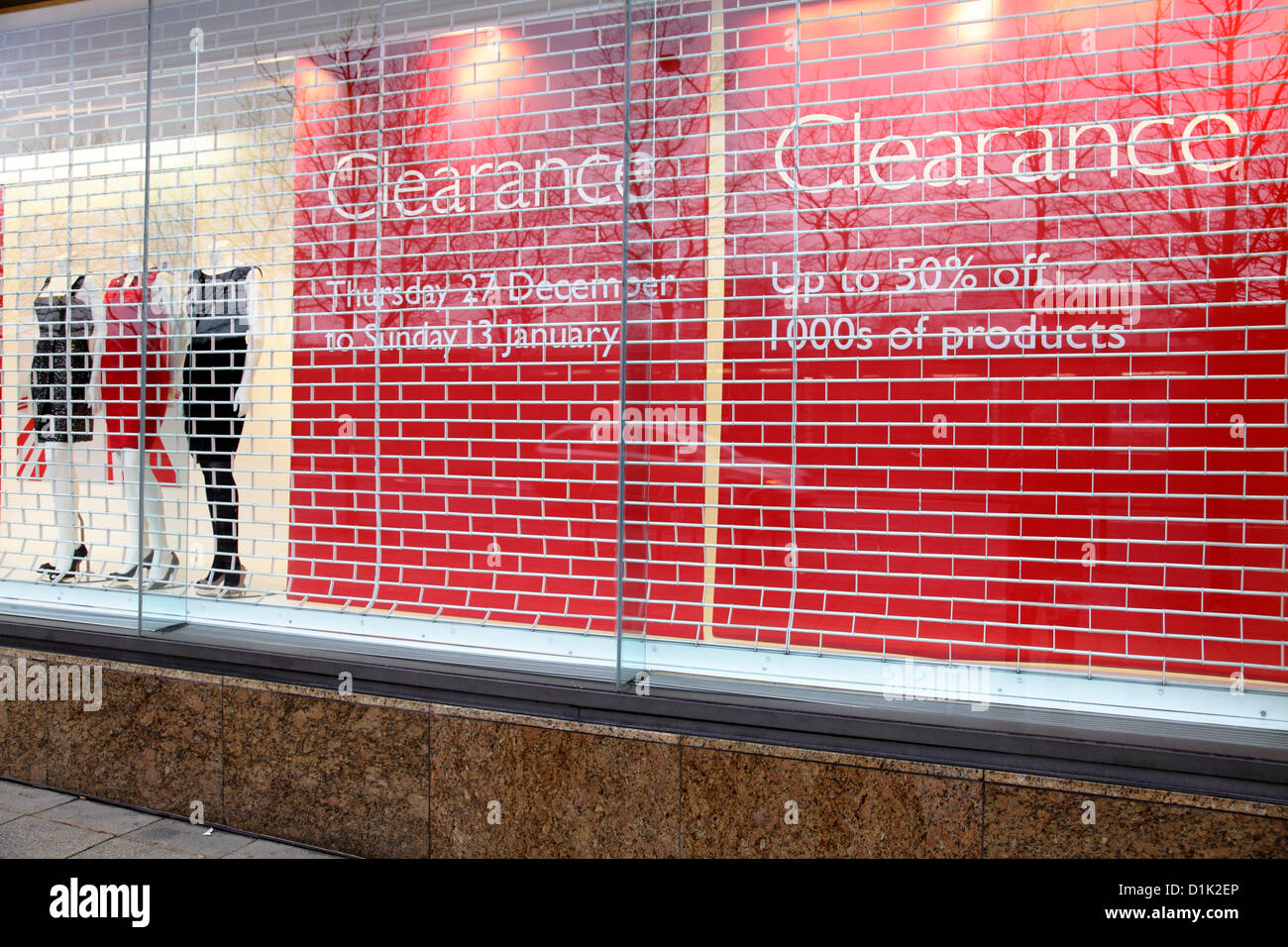 A John Lewis Shop Window With Clearance Signs Credit Kenny Williamson Alamy Live News