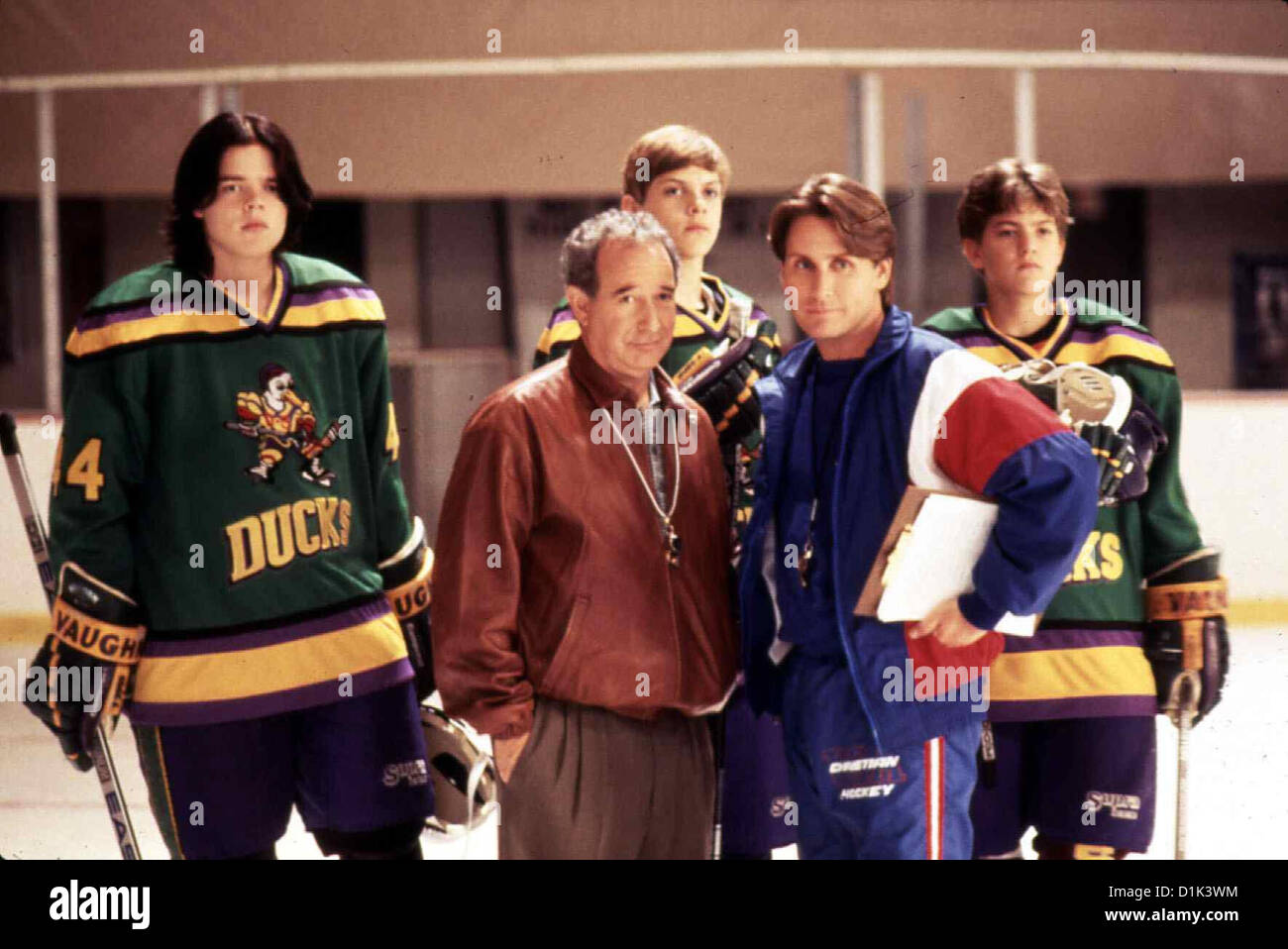 Mighty Ducks Ii - Das Superteam Kehrt Zurueck  D2: Mighty Ducks  Michael Tucker, Emilio Estevez Was Gordon (Emilio - Stock Image