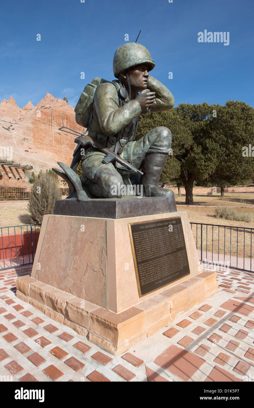 Monument to the Navajo Code Talkers. - Stock Image