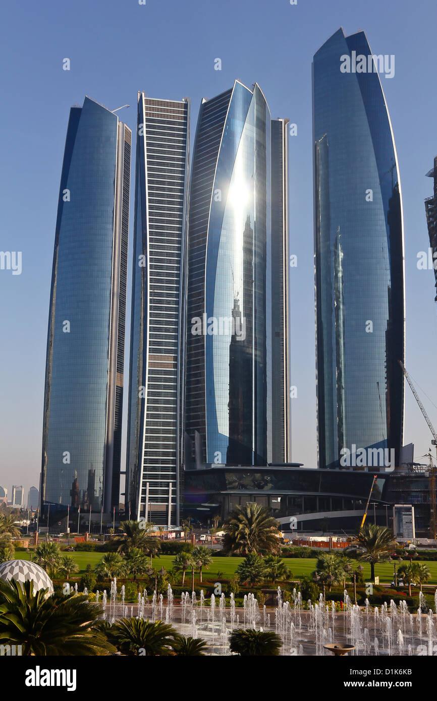 Etihad Towers, Abu Dhabi, UAE - Stock Image